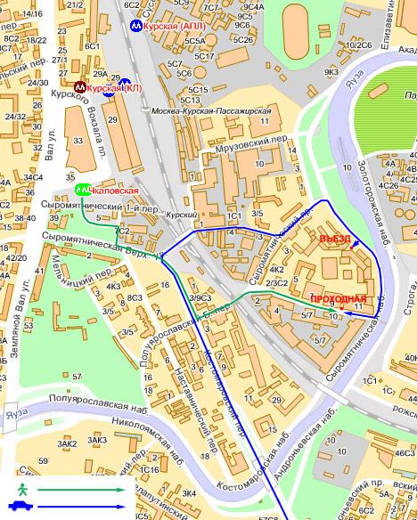 Карта проезда городского
